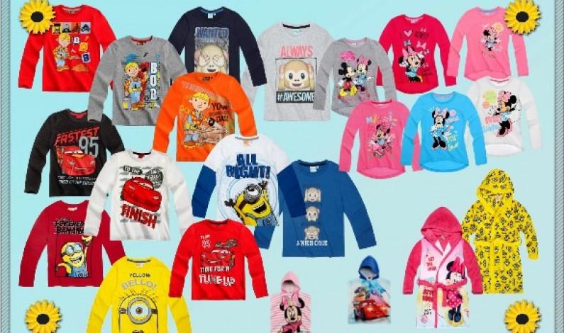 Udělejte dětem radost licenčním oblečením s jejich oblíbenými motivy